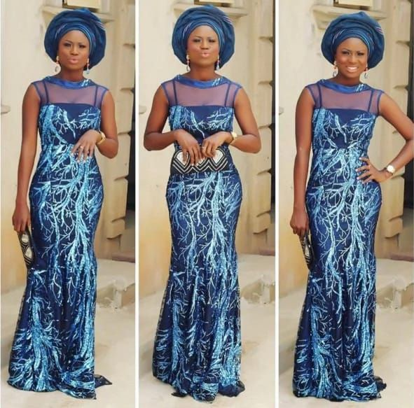 Creative Simple Long Gown Aso Ebi Styles http://www.dezangozone ...