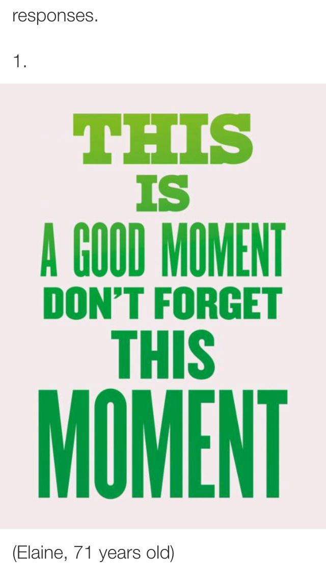 Live in each moment