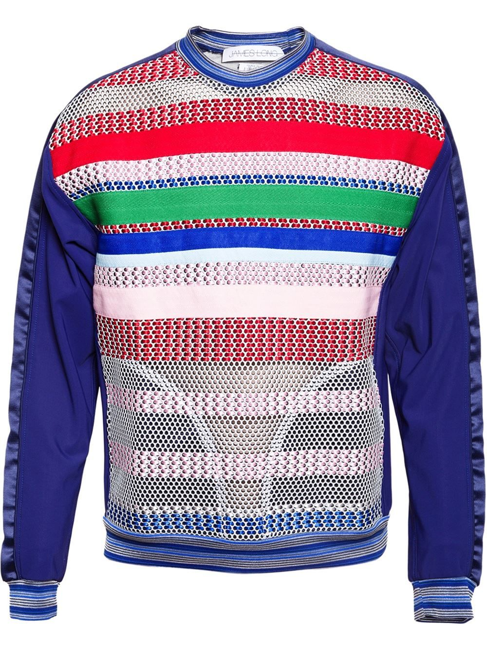 JAMES LONG mesh technofabric sweatshirt available now at Farfetch