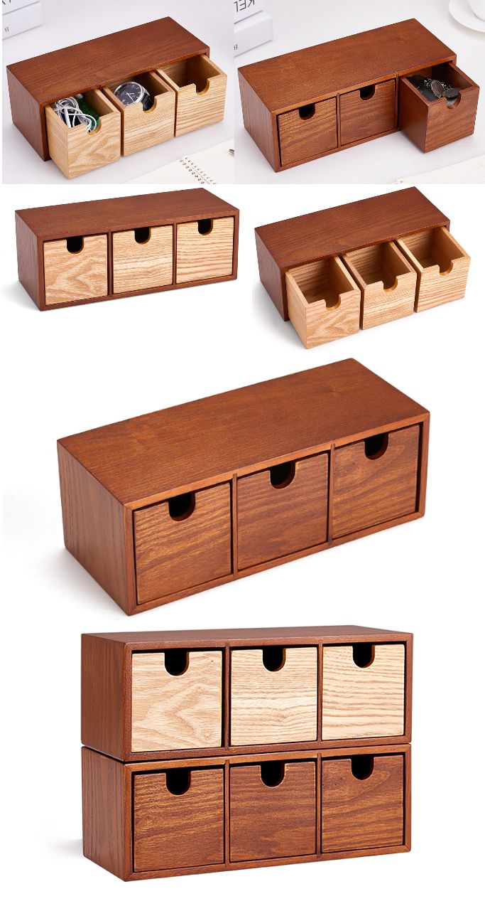 3 Drawers Wooden Office Desk Organizer Collection Smart Phone Dock Holder Pen Pencils Holder Business Car Wooden Office Desk Wooden Organizer Desk Organization