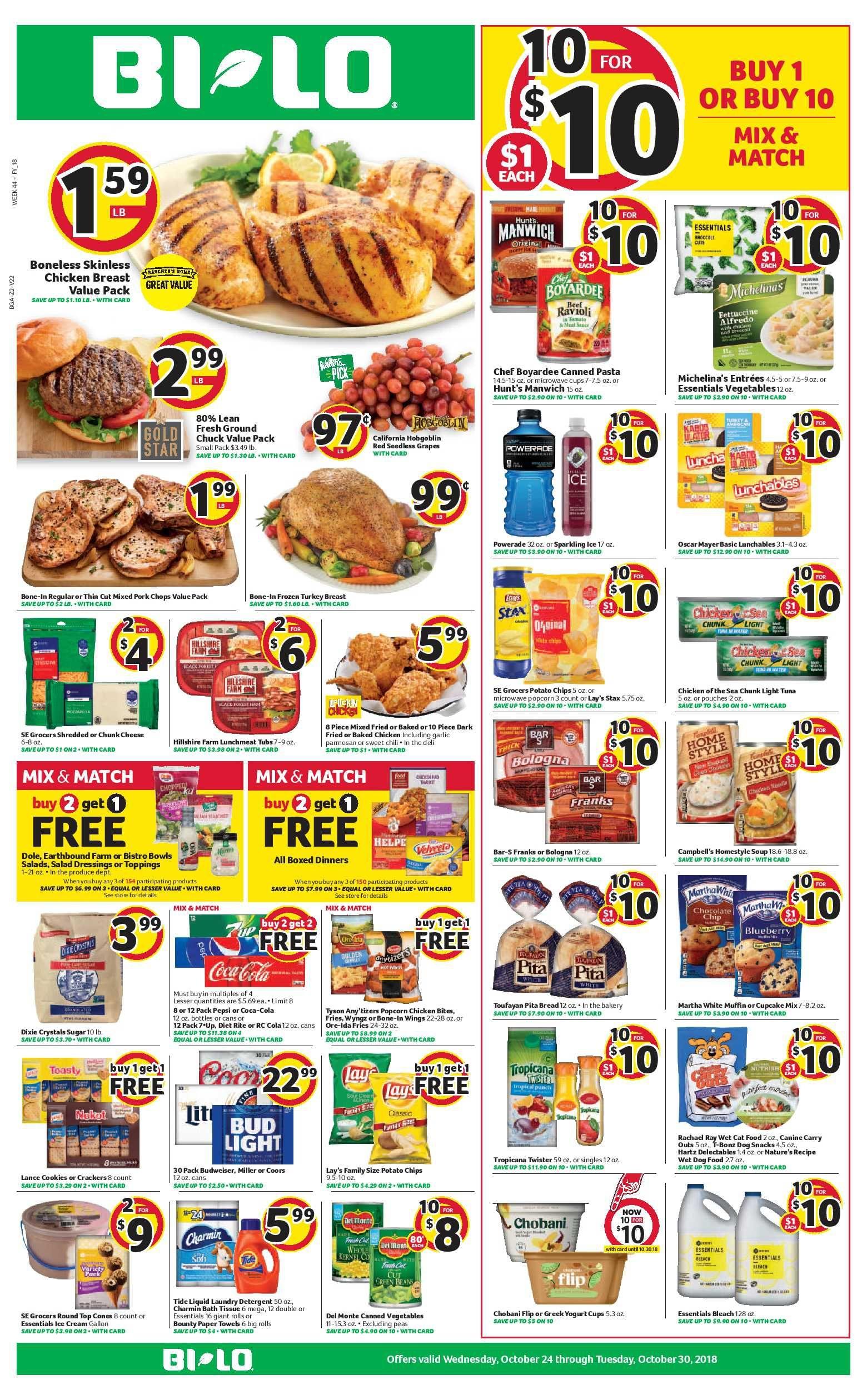 Bi Lo Weekly Ad Flyer January 16
