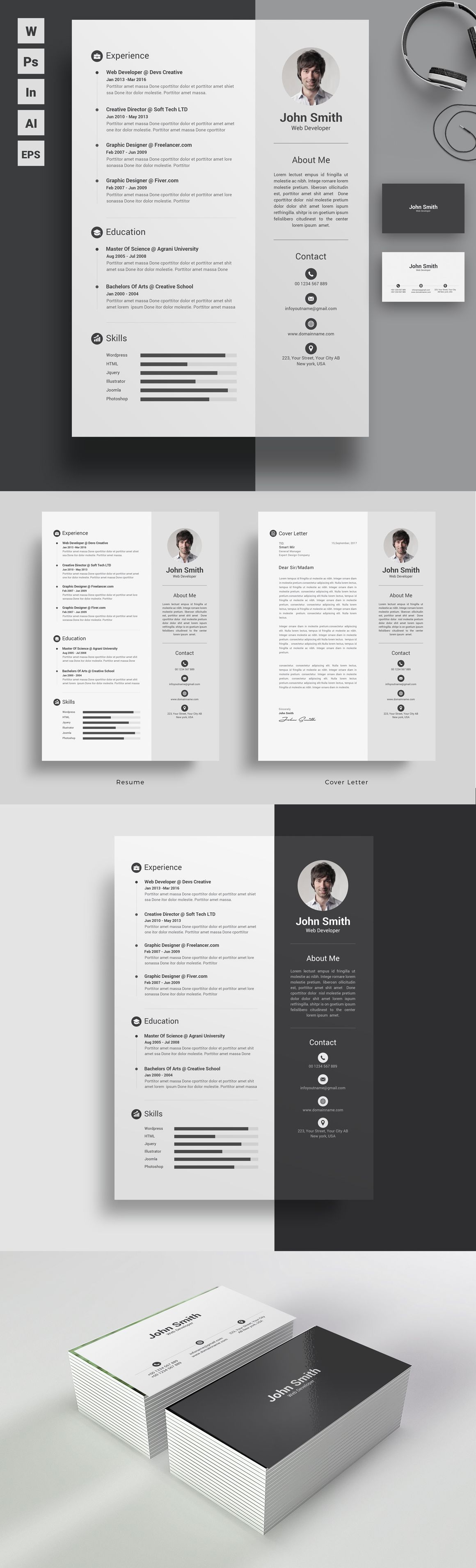 Clean But Lucrative Trendy Resume Design Template For Those Who