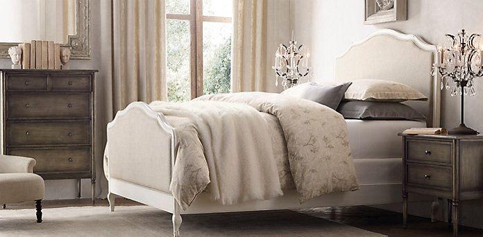 Lorraine Bed Distressed White Oak Restoration Hardware Bedroom Guest Bedrooms Master