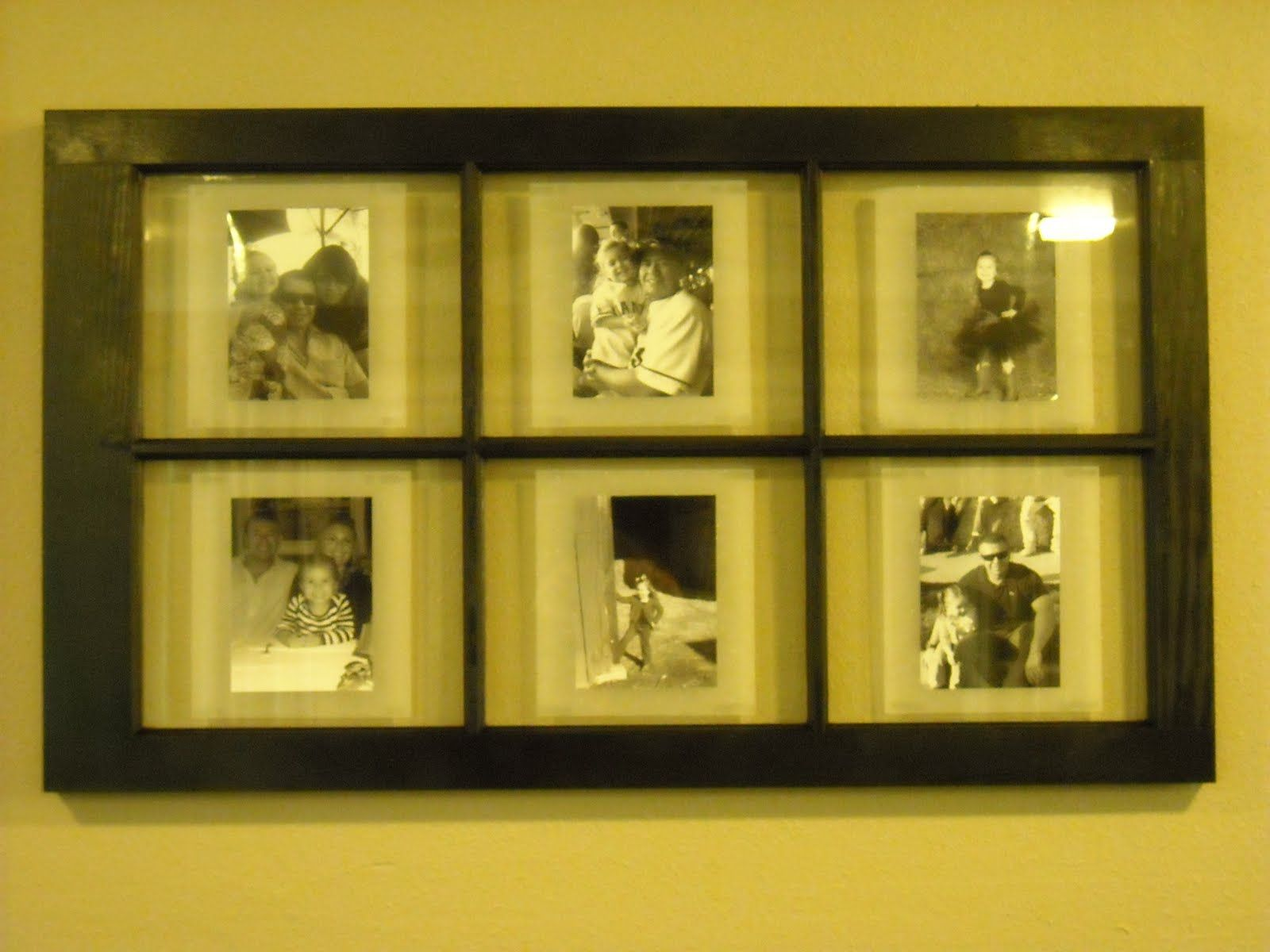 Ideas Using Old Paned Windows | on the back my windowpane photo frame was complete i love the way it ...