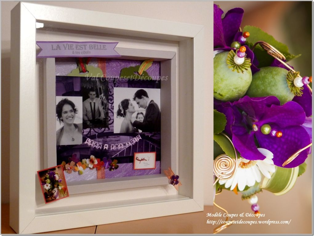 Vive les mariés -  Stampin Up - Val CoupesEtDecoupes Independent Demonstrator - shadow box