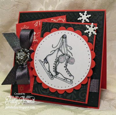 Snow Day by Flourishes, Lifestyle Crafts Zig Zag embossing folder, ISP tape, Memento Tuxedo Black ink - all available at IHP!