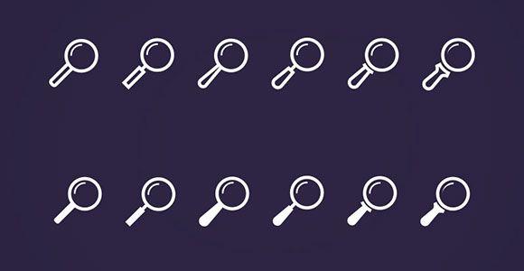PSD Freebie: Search icons PSD