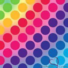 Resultado de imagen para polka dots rainbow