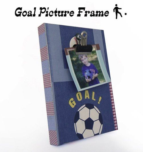 Sports Picture Frame Craft Idea Mod Podge Rocks Picture Frame Crafts Diy Picture Frames Picture Frames
