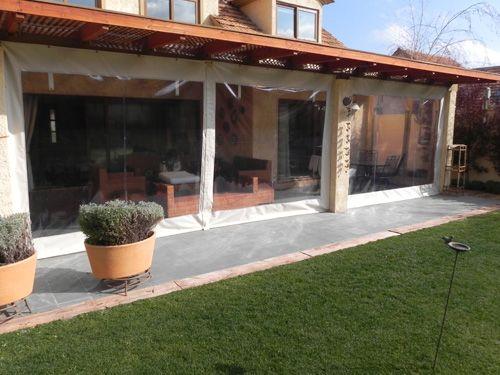 Cierre de terrazas pvc patio pinterest cierre for Cerrar valla jardin