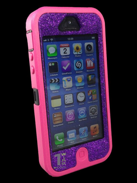 new styles a4851 1b5c3 Custom Glitter Otterbox Defender Series Case for iPhone 5 by 1WinR ...
