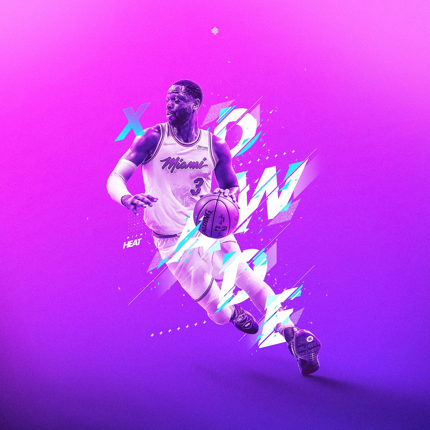 Personal Projectdwyane Wade 3 Of Miami Heat Retro Style Nba Wallpapers Dwyane Wade Sports Graphic Design