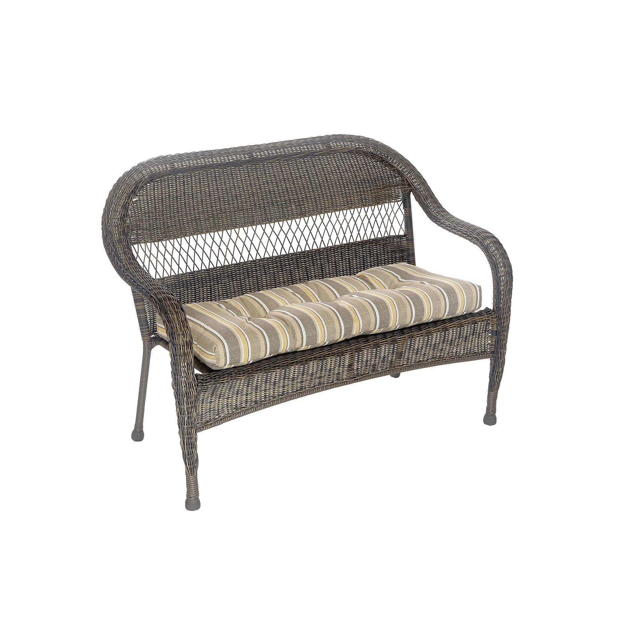 Klear Vu Indoor Outdoor Patio Bench Cushion Beig Green Beig