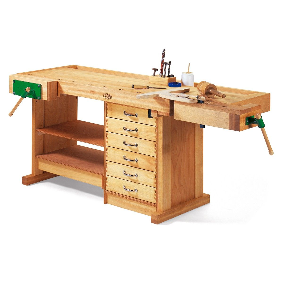 Wooden Workbench With Drawers Plans: Wittmann Workbench Professional Edition With Solid Wood