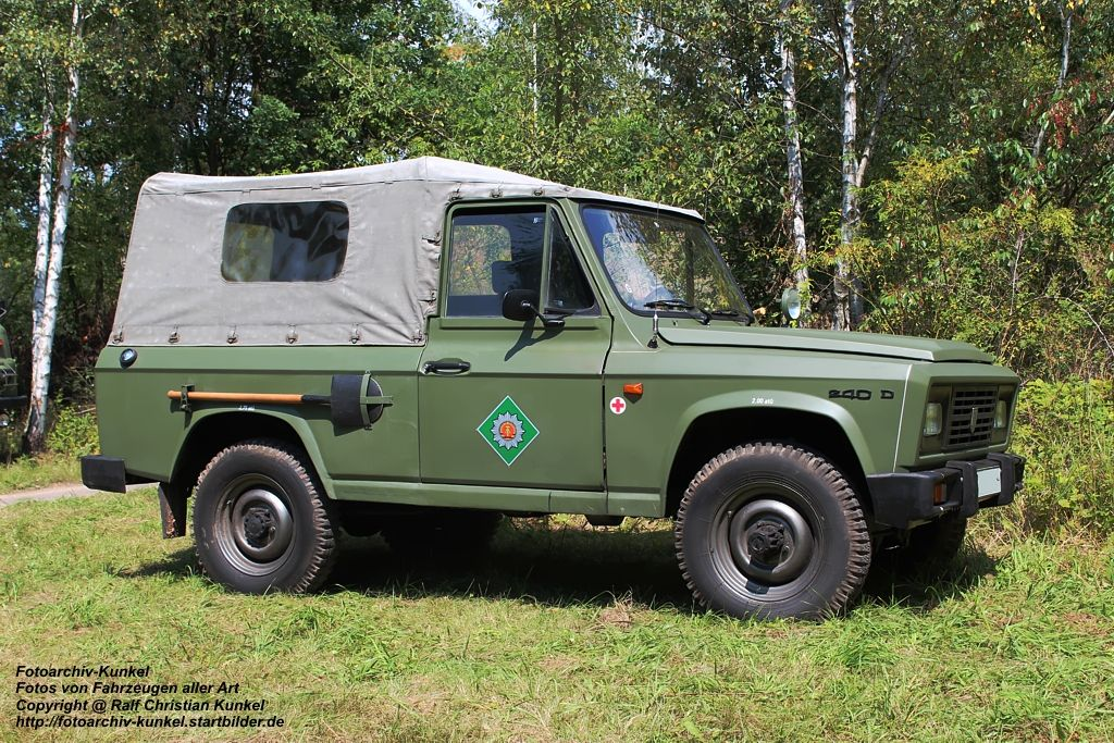 east german police aro 240 with canvas top cover on. Black Bedroom Furniture Sets. Home Design Ideas
