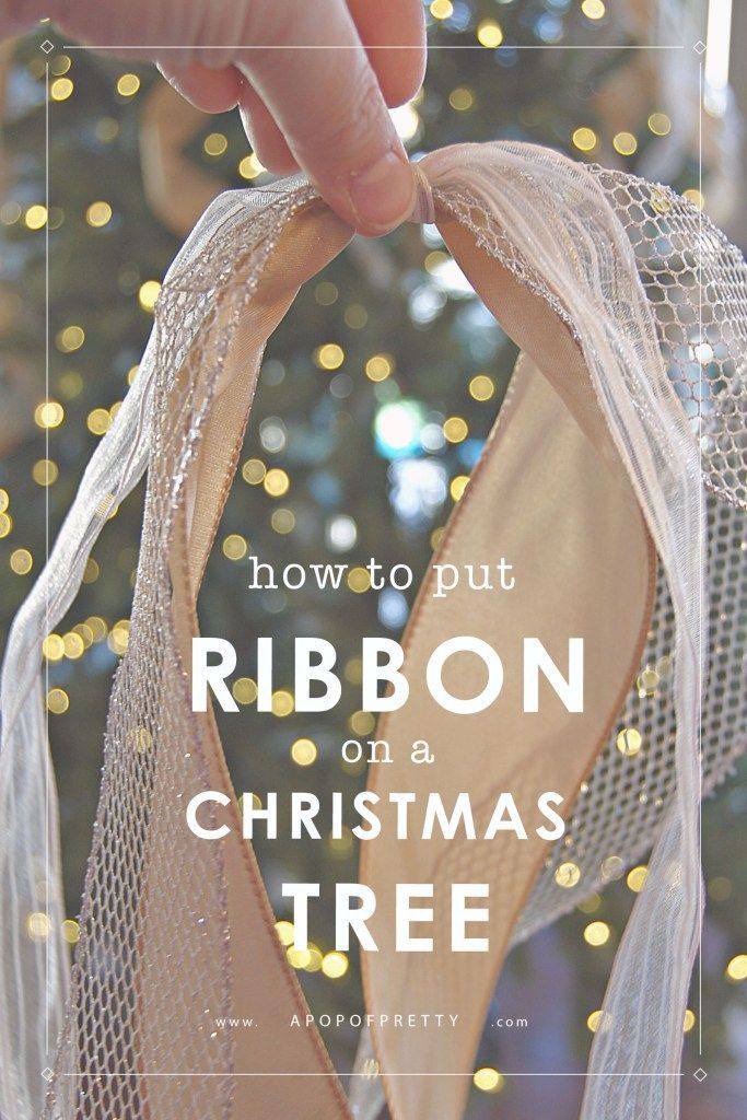 How to Put Ribbon on a Christmas Tree (Tutorial #kerstboomversieringen2019