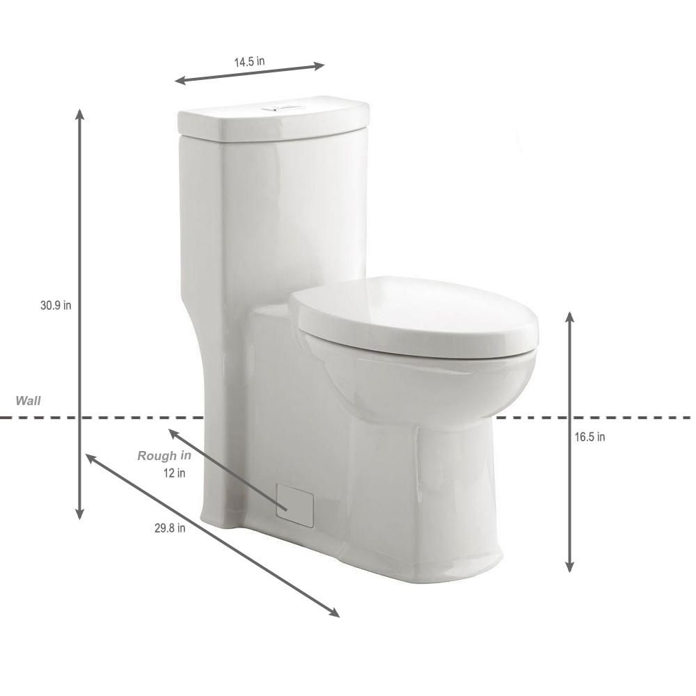 American Standard Boulevard Siphonic Tall Height 1 Piece Dual Flush Elongated Toilet In White Seat Included 2891200 020 American Standard Flush Modern Toilet