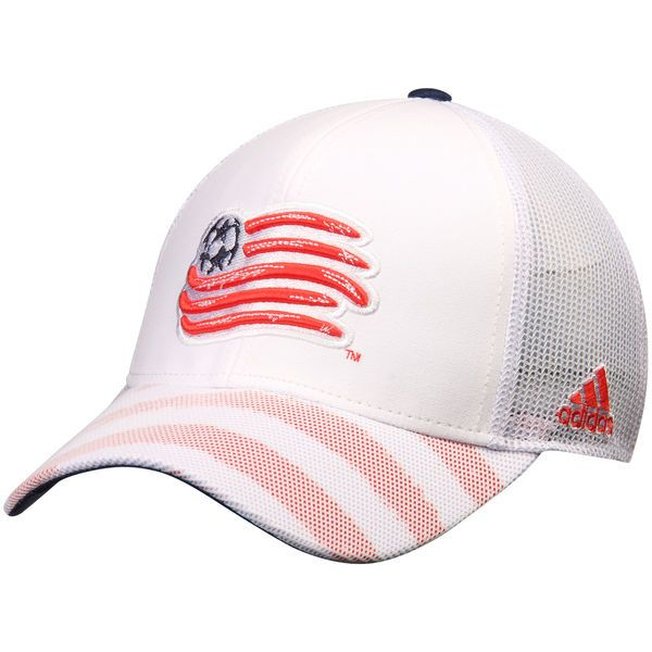 b9093bedaf72b Men s New England Revolution adidas White Authentic Team climalite Adjustable  Structured Hat