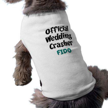 Funny Pet Wedding Crasher Personalized T-Shirt - marriage gifts diy ideas custom