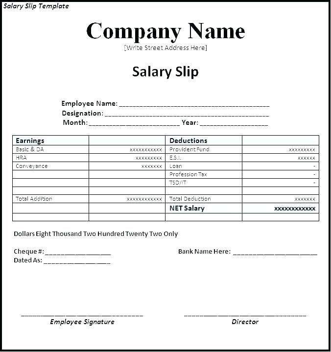 15  Payslip Template Uk Excel