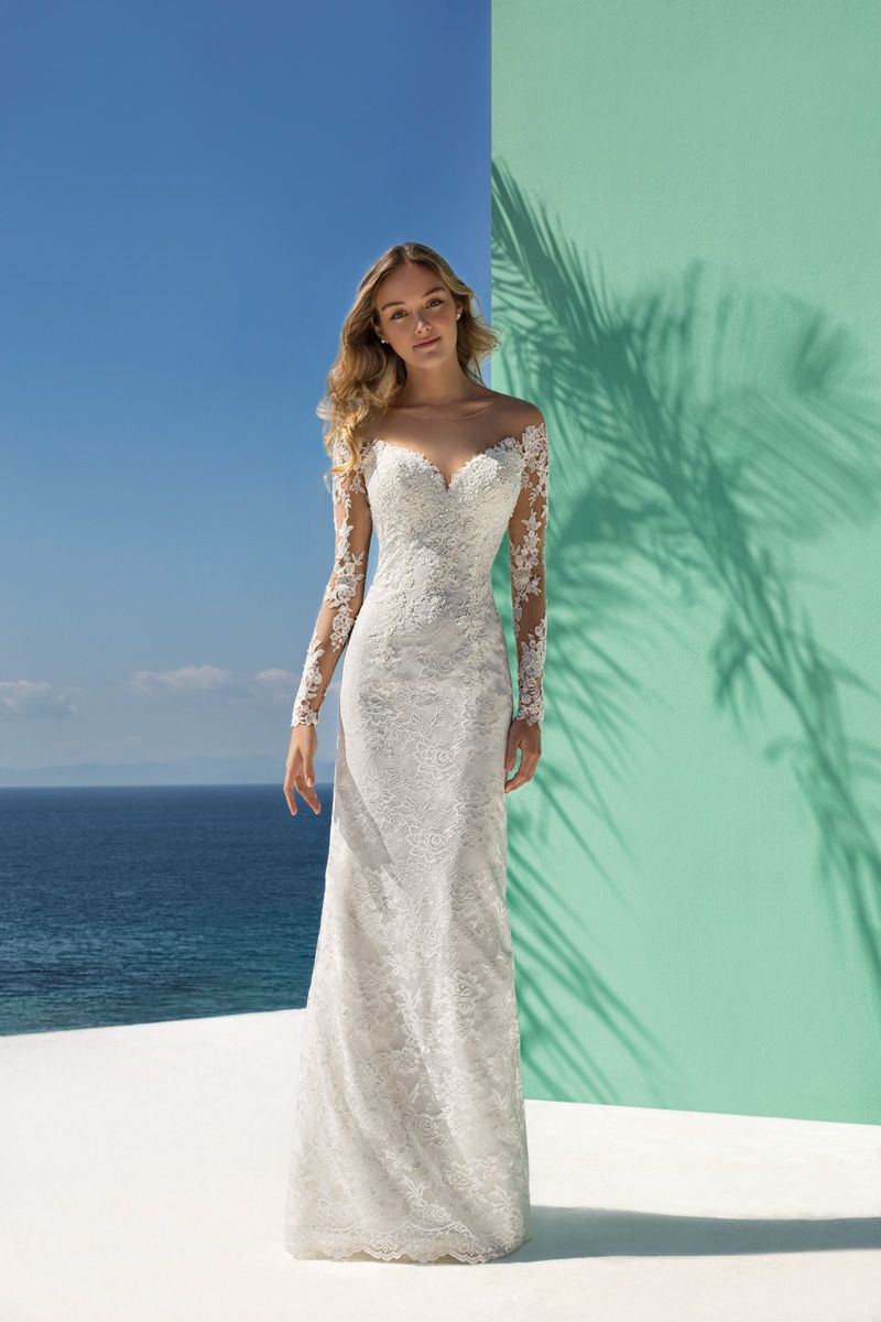 Ibiza style trouwjurk
