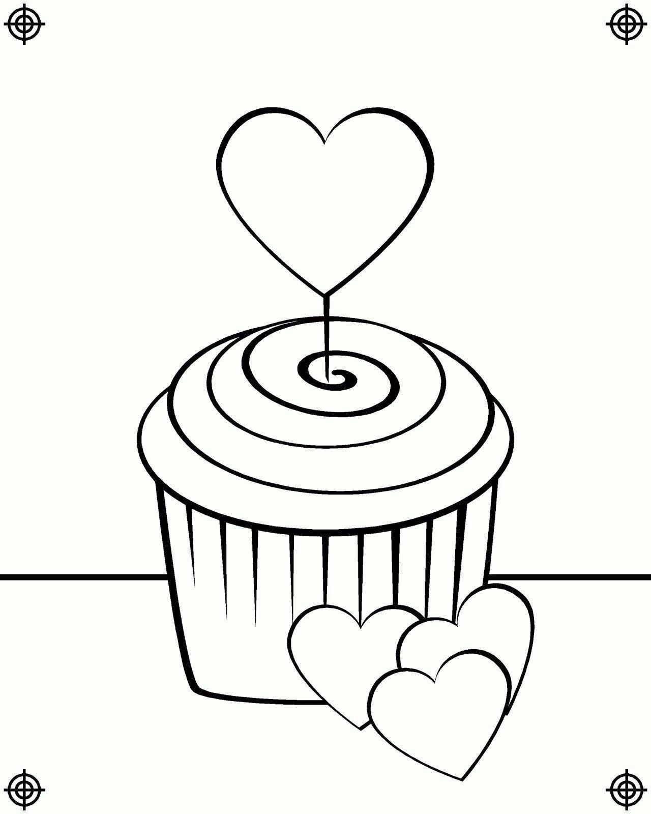 Shopkins Kleurplaat Cupcake