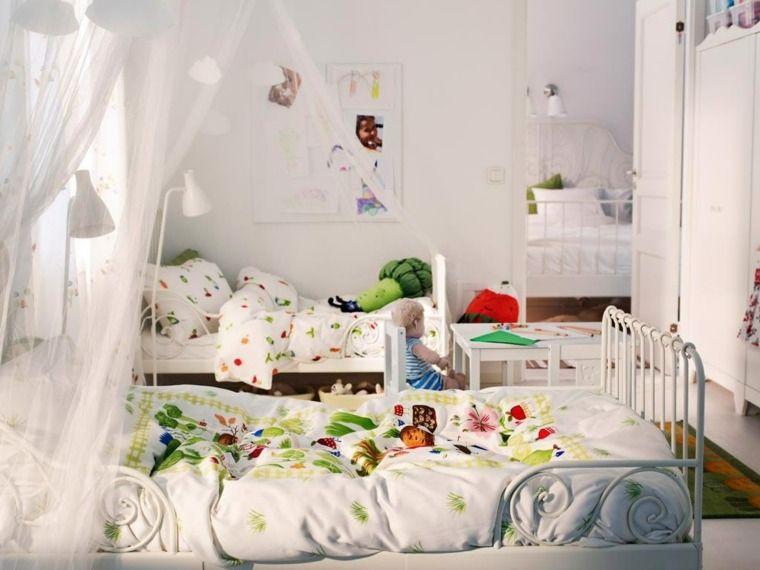 Chambre Enfant Mixte En Blanc