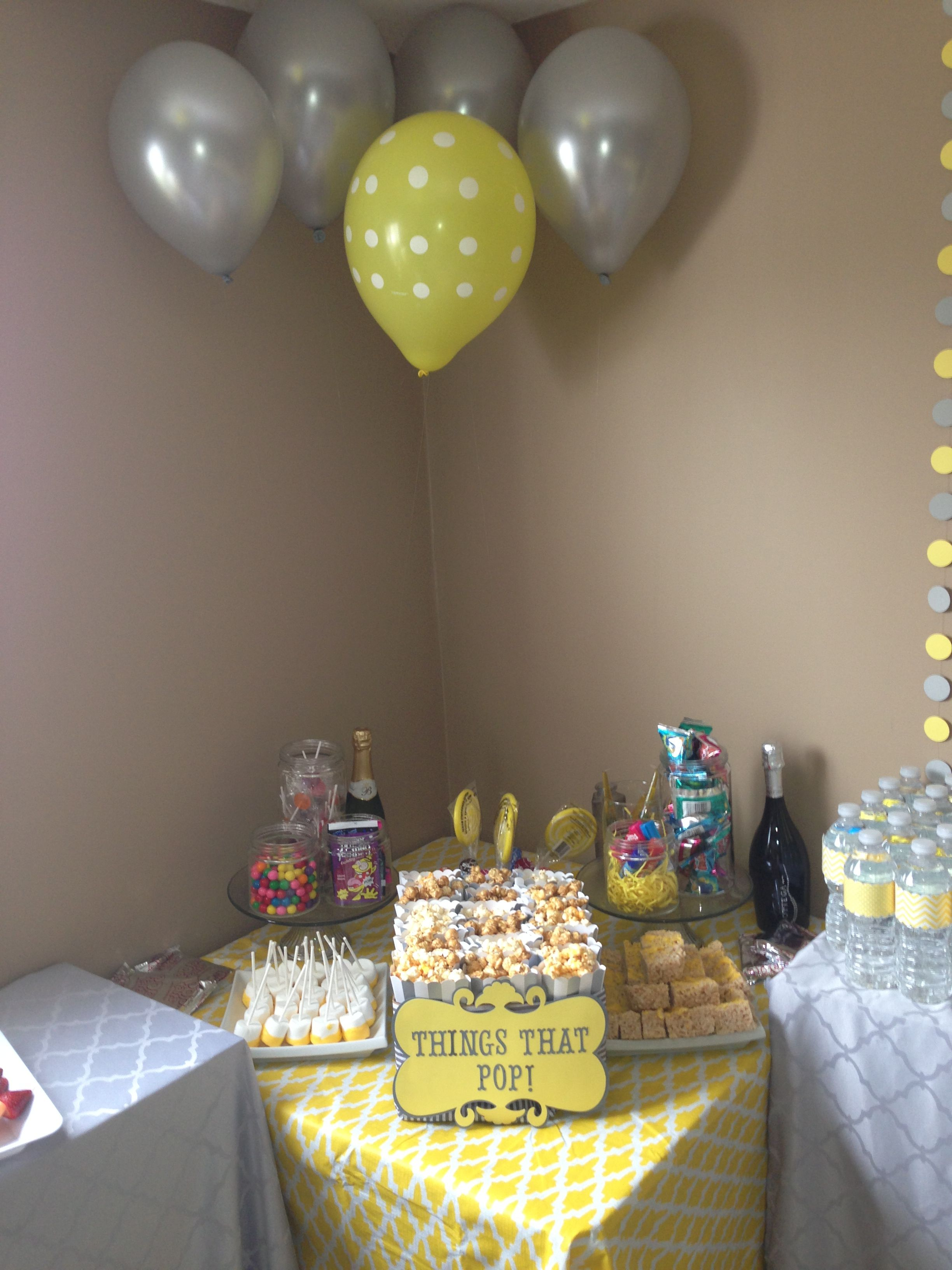 Grey and Yellow Baby Shower Things that Pop... Yummy and