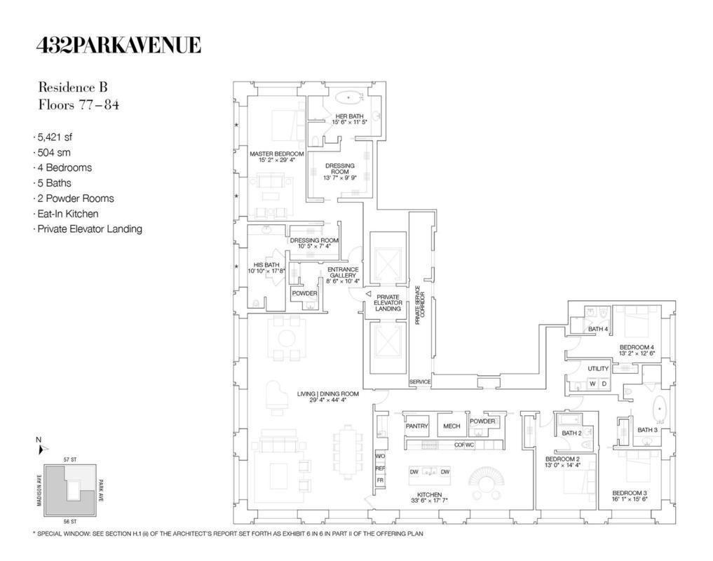 432 Park Avenue #80B in Midtown, Manhattan | StreetEasy