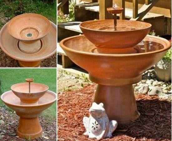 Creative Ideas   DIY Terracotta Pot Fountain | Terracotta, Fountain And Water  Fountains
