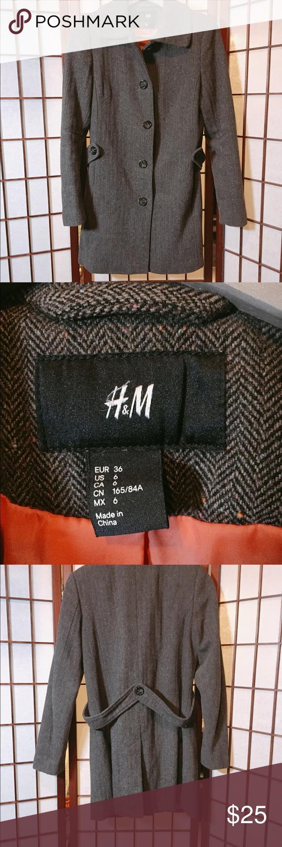 H&M's coat brown color