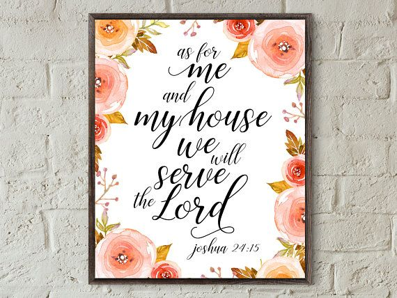Bible Verse Wall Art Bible Verse Prints Joshua 24 15 Inspirational Quotes Christian Wall Art Home Prints Faith Bible Verse Wall Art Diy Canvas Wall Art Quotes