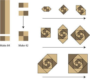 Follow These Simple Instructions To Make A Cute Snail S Trail Quilt Quilt Patterns Quilt Blocks Quilt Block Patterns