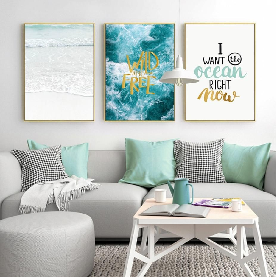 Beautiful Ocean Seascapes Posters Inspirational Quotations ...