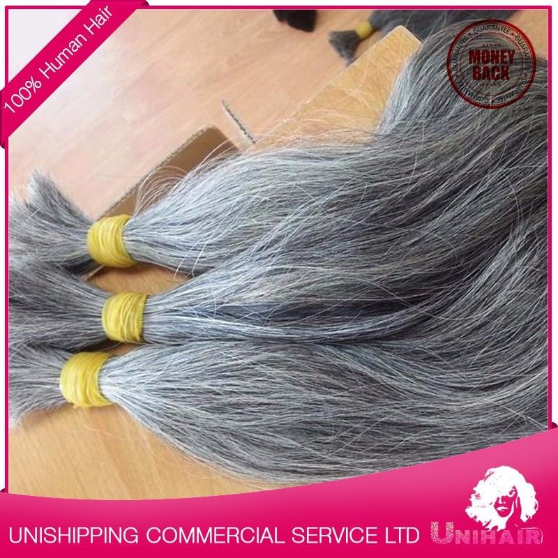 Wholesale Bulk Human Hair Weaving Extensions By Grey Human Raw Hair