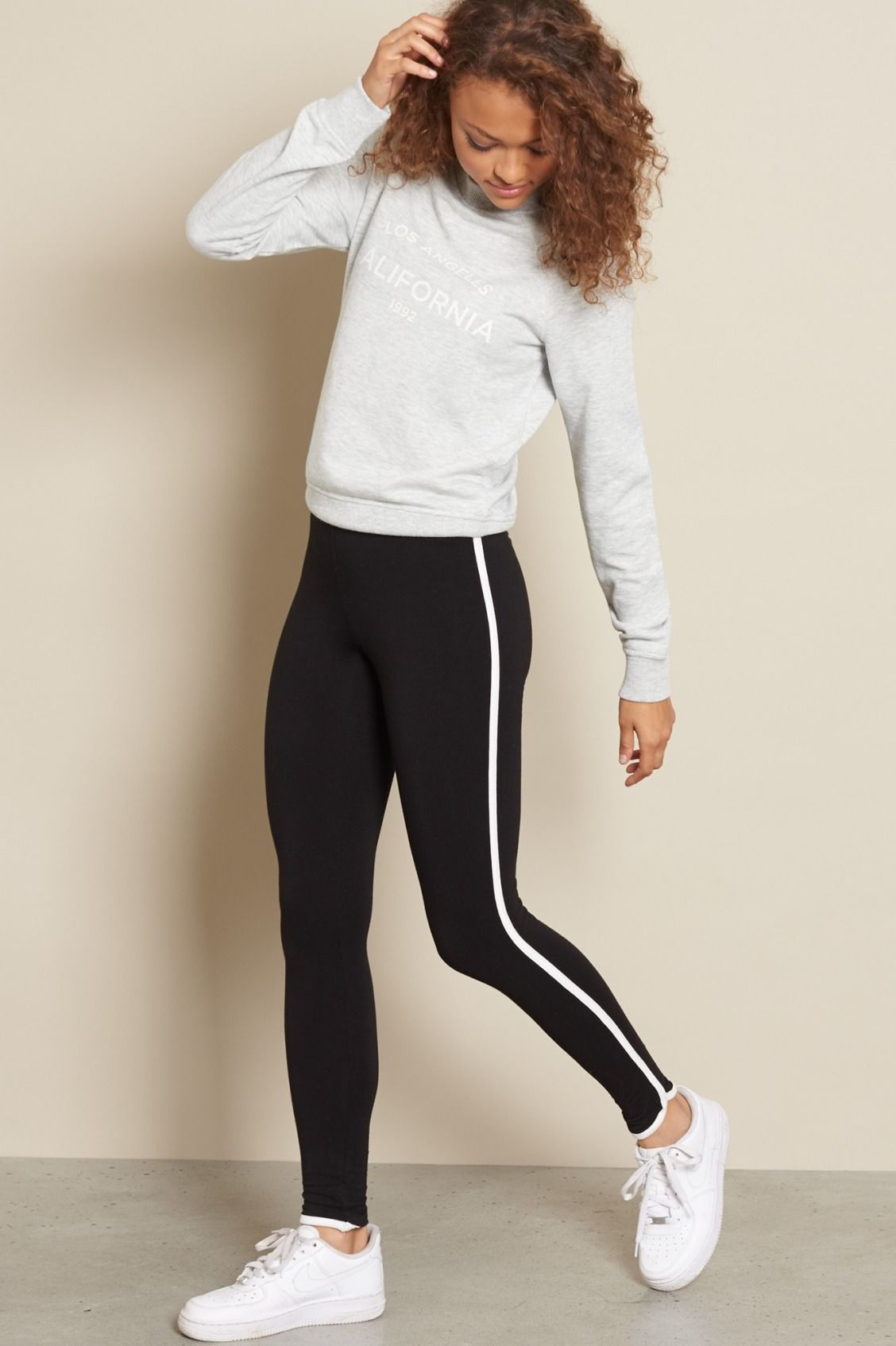 11f58ea35016c Side Stripe Legging | Fashion. in 2019 | Leggings outfit winter ...