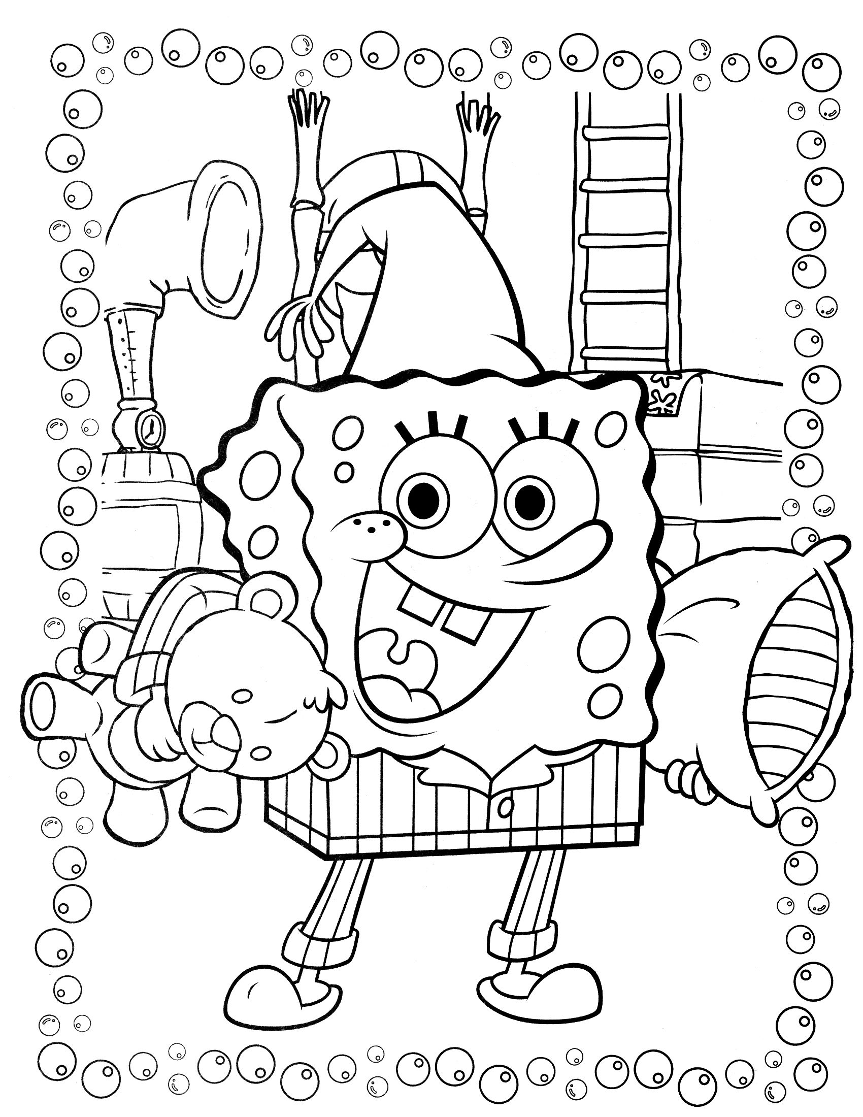 Spongebob Coloring Page 89 With Images Cartoon Coloring