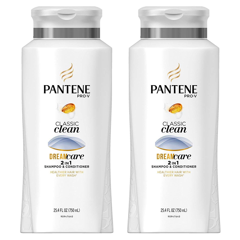 Pantene Pro V Classic Clean 2in1 Shampoo Conditioner 25 4 Fl Oz Pack Of 2 Shampoo Shampoo And Conditioner Conditioner