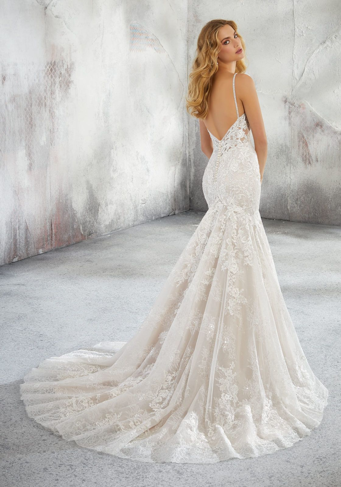 5ccc1f0801f2 Mori Lee Style 8280 // Ivory over Rose, Size 8 // New York Bride & Groom of  Raleigh, NC