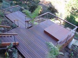 Modern Hillside Deck Oh Yeah More