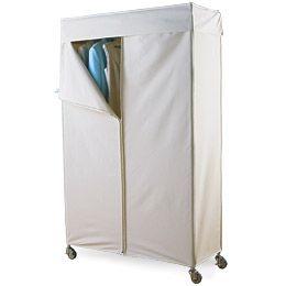 Intermetro Clothes Rack With Cotton Canvas Cover Garment Racks