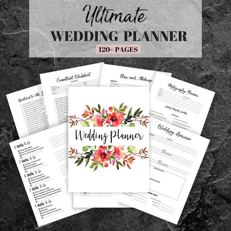 Wedding Planner Printable, Wedding Planning Book