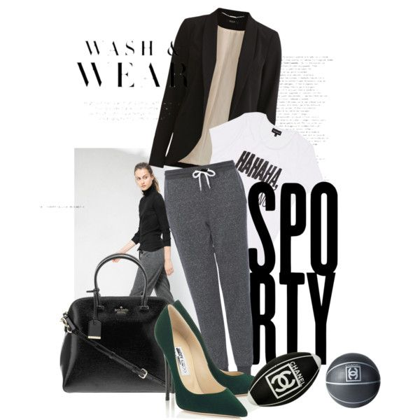 Off duty chic by rbsm on Polyvore featuring pop.see.cul, VILA, Topshop, Kate Spade and Chanel