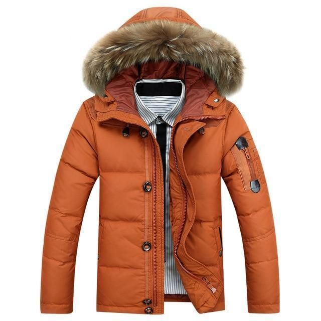 Winter Mens Coat Fur White Thick Down Duck With QrhtsCxd