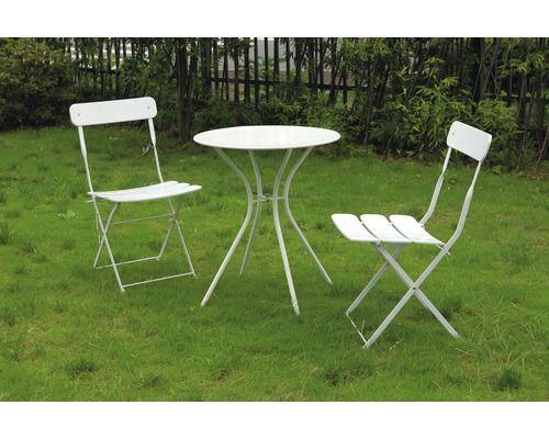 Gartenmöbel-Set Metall, 3teilig, weiß bei HORNBACH kaufen - gartenmobel weis metall
