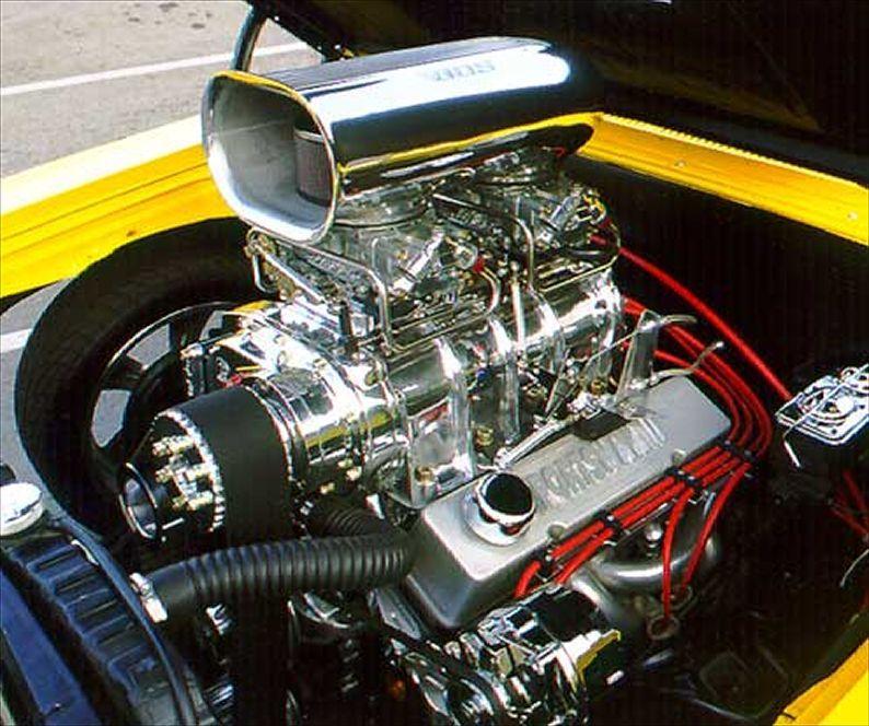 1965 Chevrolet El Camino Engine View Engineering Chevy Car