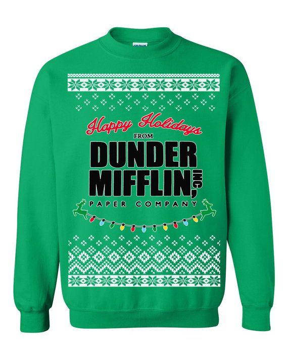 The Office Christmas Sweater.The Office Merry Christmas From Dunder Mifflin Ugly