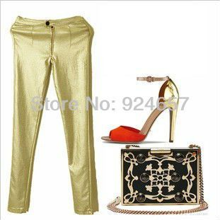 20,47 Black, Gold, Silver (ask size chart) pu leather pants SML ...