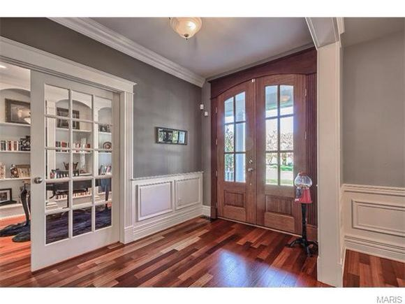 Front Door Interior Trim Wood Stained Vs White Painted Trim L