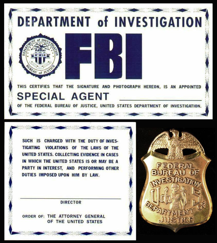 FBI ID From The X Files